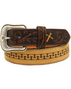 Ariat Men's Stitch Cross Tabs Belt, , hi-res