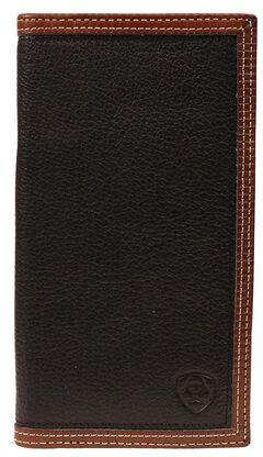 Ariat Black & Tan Rodeo Wallet, , hi-res
