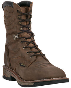 "Dan Post Snapyr Waterproof 8"" Lace-Up Work Boots - Square Toe , , hi-res"