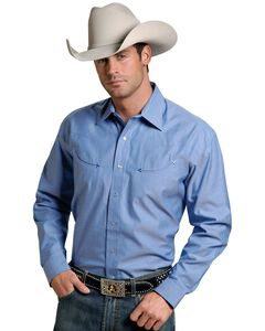 Stetson Solid Twill Snap Oxford Shirt, , hi-res