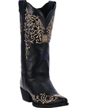 Laredo Women's Jasmine Cowgirl Boots - Snip Toe, Black, hi-res