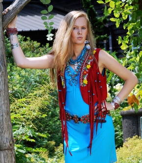 Tasha Polizzi Women's Rust Jerome Vest, Ruby, hi-res