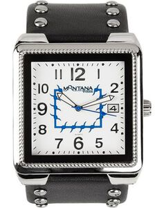 Montana Silversmiths Studded Square Watch, , hi-res