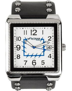 Montana Silversmiths Studded Square Watch, Black, hi-res