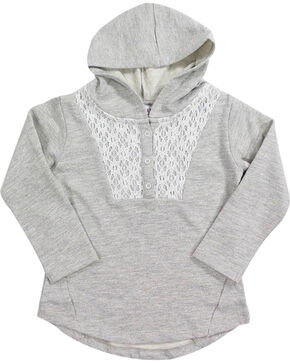 Shyanne Toddler Girls' Lurex Lace Hoodie , Oatmeal, hi-res