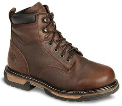 """Rocky IronClad 6"""" Waterproof Lace-Up Work Boots - Round Toe, , hi-res"""