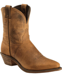 "Abilene Distressed Brown 7"" Cowgirl Boots - Snip Toe , , hi-res"