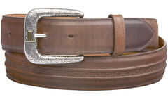 Lucchese Men's Burnished Calf Smooth Leather Belt, , hi-res