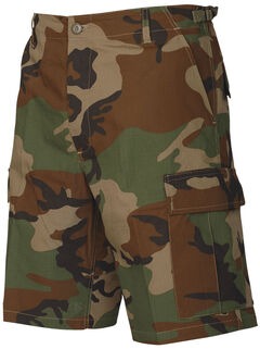 Tru-Spec Men's Woodland Camo BDU Shorts, , hi-res