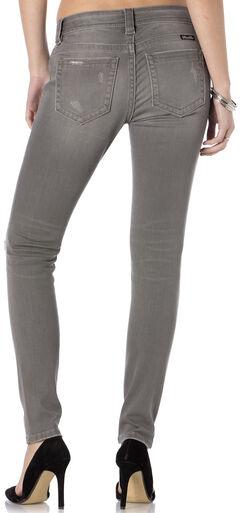 Miss Me Women's Get Ripped Grey Skinny Jeans, , hi-res