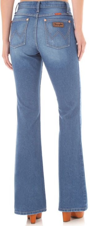 Wrangler Women's High-Waisted Flare Jeans, Indigo, hi-res