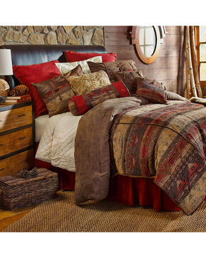 HiEnd Accents 7-Piece Queen Luxury Chenille Suede Sierra Bedding Set, Multi, hi-res