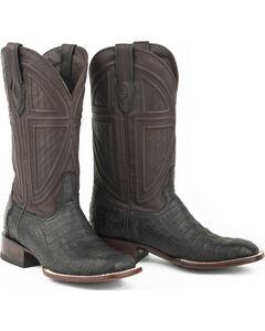 Stetson Men's Black Caiman Belly Western Boots - Square Toe , , hi-res