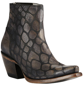 Ariat Women's Black Snake Print Benita Boots - Snip Toe, Black, hi-res
