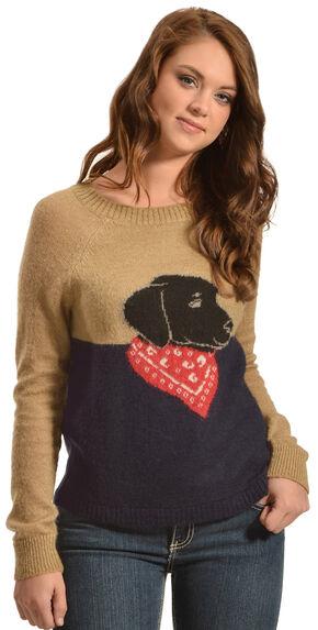 Woolrich Women's Motif Mohair Sweater, Camel, hi-res