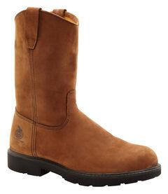 Georgia Wellington Pull-On Work Boots - Steel Toe, , hi-res