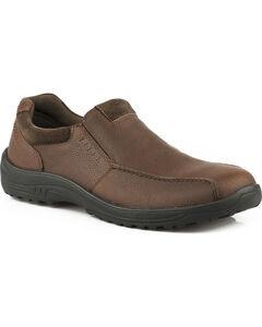 Roper Men's Brown Burly Casual Slip-On Shoes , , hi-res