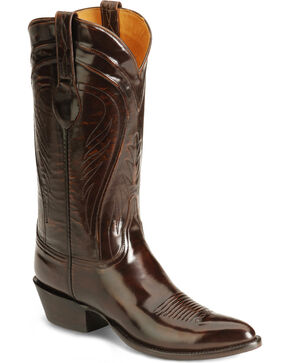 Lucchese Handcrafted Classics Seville Goatskin Boots - Pointed Toe, Brown, hi-res