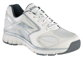 Reebok Men's Athletic Soft Toe Work Shoes, White, hi-res