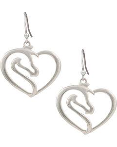 Montana Silversmiths Women's Equestrian Heart Earrings , , hi-res