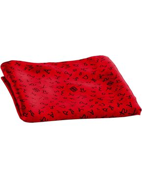 Red Branding Design Silk Wild Rag, Red, hi-res