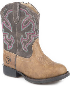 Roper Toddler Boys' Cody Classic Western Cowboy Boots - Round Toe, , hi-res