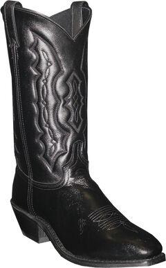 Abilene Black Dress Cowboy Boots - Square Toe , Black, hi-res