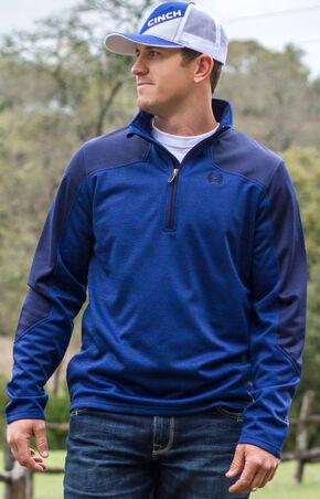 Cinch Men's Royal Blue Fleece Pullover , Royal, hi-res