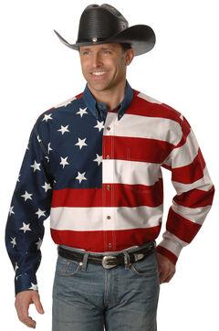 Roper Flag Print Shirt - Big & Tall, , hi-res