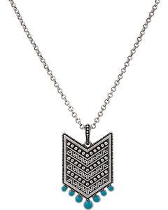 Wrangler Rock 47 Points of Aztec Chevron Turquoise Necklace, , hi-res