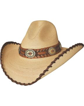Bullhide Golden Dawn Bangora Straw Cowgirl Hat, Tan, hi-res