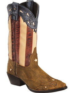 Laredo Women's Keyes Stars & Stripes Cowgirl Boots - Snip Toe, , hi-res