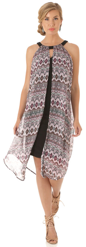 Wrangler Women's Multi Sleeveless Flyaway Dress, Multi, hi-res