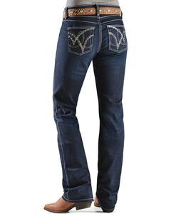Wrangler Q-Baby Dark Wash Ultimate Riding with Booty Up Technology Jeans, , hi-res
