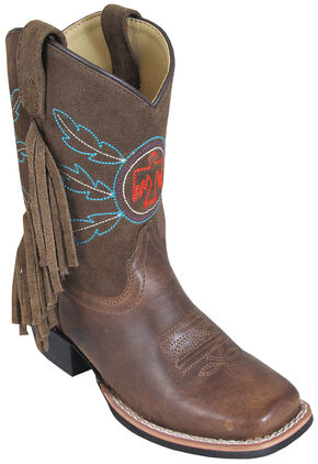 Smoky Mountain Youth Boys' Thunderbird Western Boots - Square Toe, Brown, hi-res