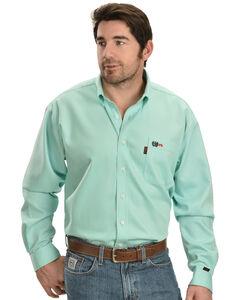 Cinch Light Green Flame Resistant Work Shirt, , hi-res
