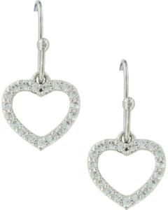 Montana Silversmiths Women's Heart Frame Earrings , , hi-res