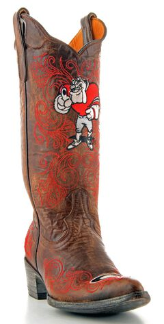 Gameday University of Georgia Cowgirl Boots - Pointed Toe, , hi-res