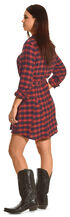 Shyanne Women's Flannel Shirt Dress, Am Spirit, hi-res