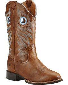 Ariat Round Up Stockman Cowgirl Boots - Round Toe, , hi-res