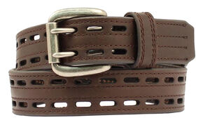 Nocona HD Xtreme Double Hole Belt - Large, Brown, hi-res