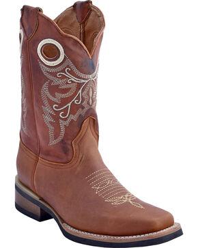 Ferrini Men's Renegade Western Boots - Square Toe , Brown, hi-res