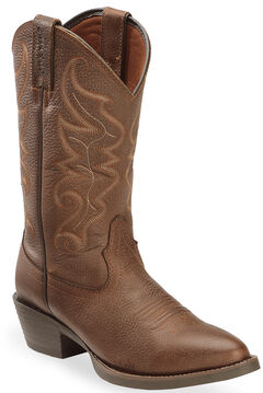 Justin Men's All Star Chocolate Western Boots - Round Toe , , hi-res