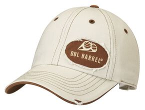 Double Barrel Logo Patch Cap, Natural, hi-res
