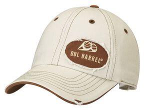 Double Barrel Logo Patch Cap, Natural, hi-res