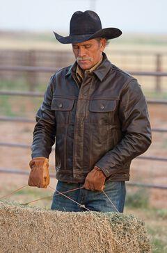 STS Ranchwear Men's Maverick Brown Leather Jacket - Big & Tall - 4XL, , hi-res