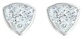 Montana Silversmiths Women's Treasured Trillion Sparkling Earrings, Silver, hi-res