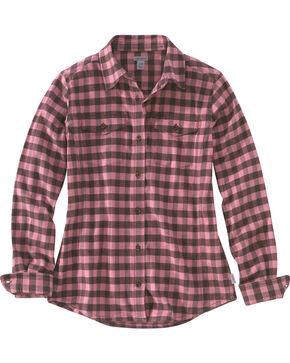 Carhartt Women's Hamilton Flannel Shirt, Pink, hi-res