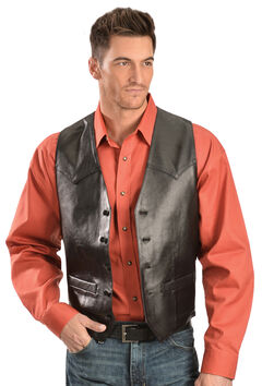 Scully Lamb Leather Western Vest - Tall, , hi-res
