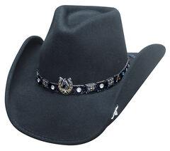 Bullhide Dark Horse Hat, Black, hi-res